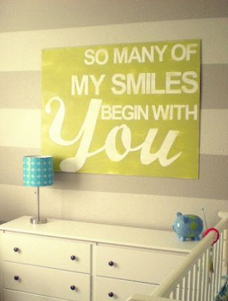 21 Inspiring Nursery Wall Decor Ideas | Nursery wall decor, Bump and ...