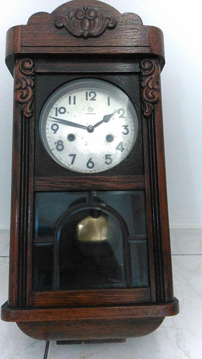 Relógio Junghans Alemão Em Ótimo Funcionamento R 980 00 Relógio Retro Relogio De Parede Antigo Relogios
