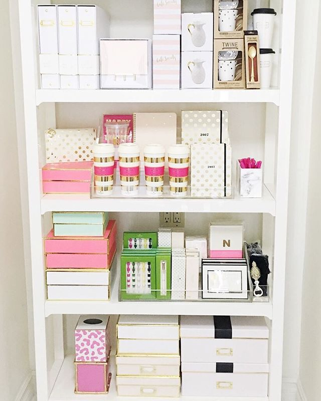 Yay! We've finished one shelf at the office shop it now! Link in bio #sugarpaper #katespade #rachelgeorge Need help? Email us !