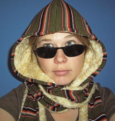Sew up a simple scoodie - a hood and scarf combination! from indietutes.blogspot.com
