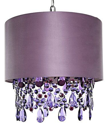 Purple Crystal Alisal Hanging Pendant Light Zulilyfinds Let There Be Pinterest Lighting Lights And Interiors