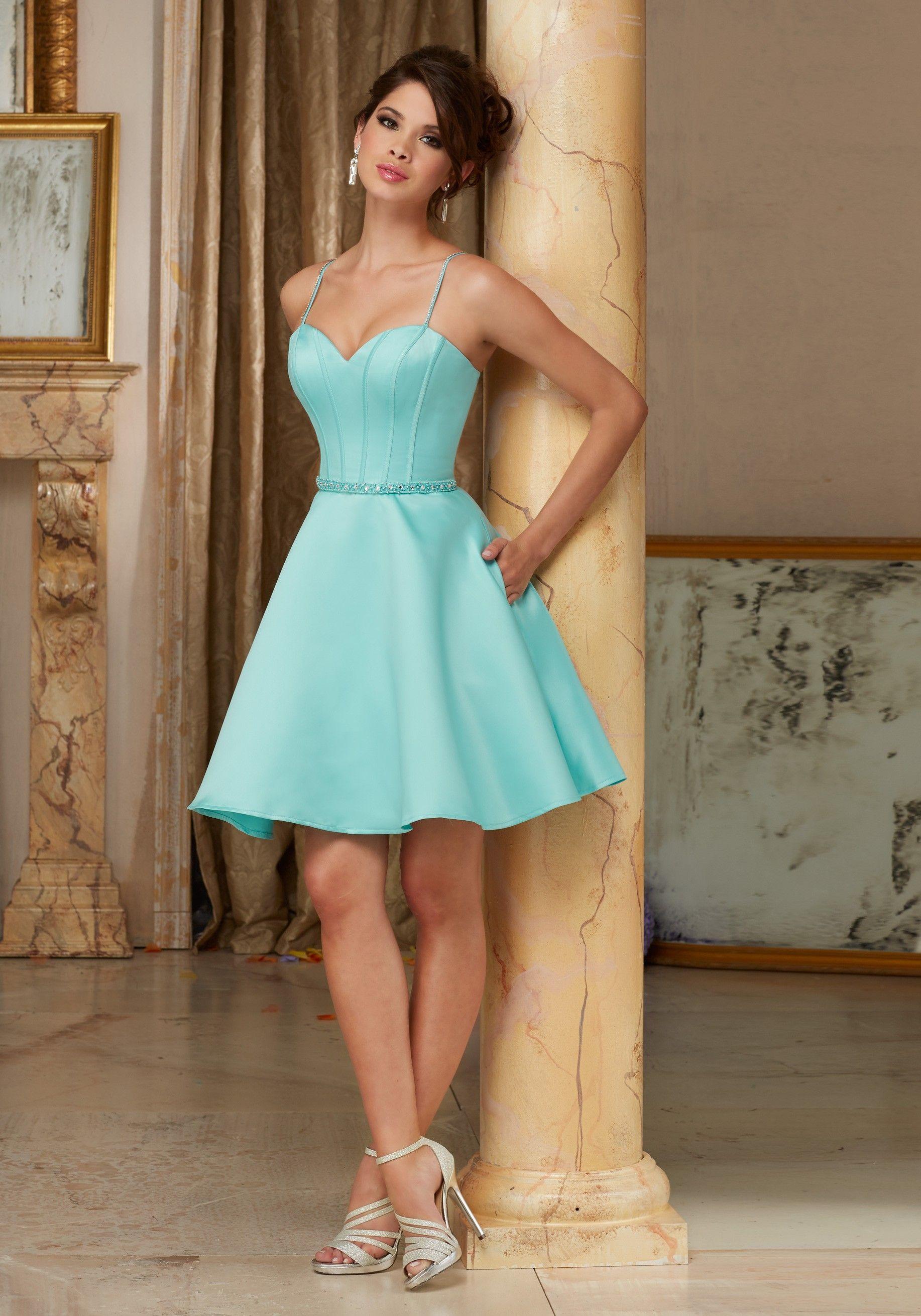 Mori Lee 9406 / 94060 A-Line Satin Dress | Mori lee, Shorts and Formal