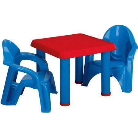 American Plastic Toys Table And Chairs Walmart Com Brody