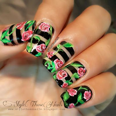 Style Those Nails: Negative Space Floral Nails- Mani Swap