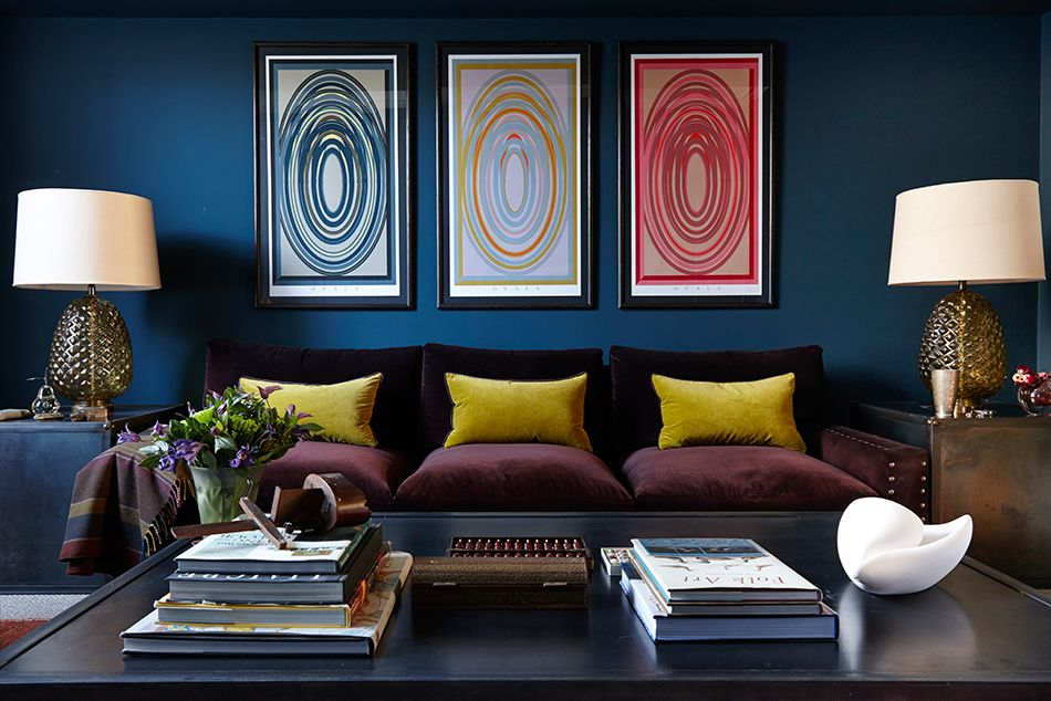 Charlotte Crosland House Garden 100 Leading Interior Designers Blue Living Room Luxury Living Room Blue Decor