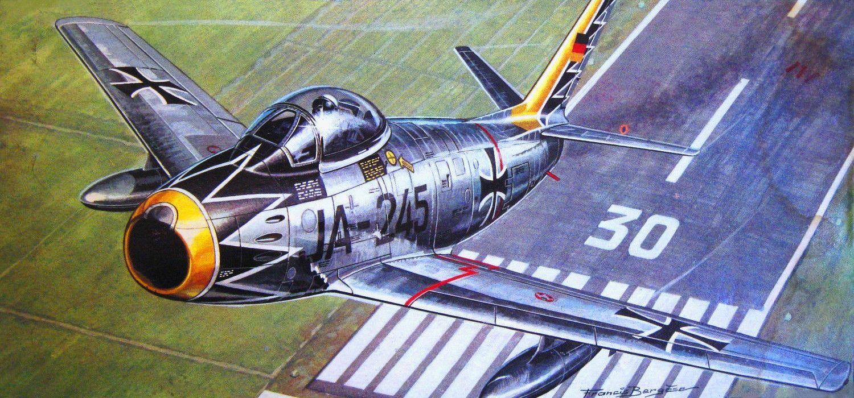 Обои painting, ww2, jet, Airplane, aviation, North american f-86d sabre, war, jet. Авиация foto 13