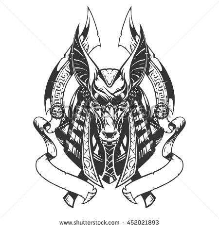 41550f188 Anubis illustration Future Tattoos, New Tattoos, Hand Tattoos, Sleeve  Tattoos, Body Art