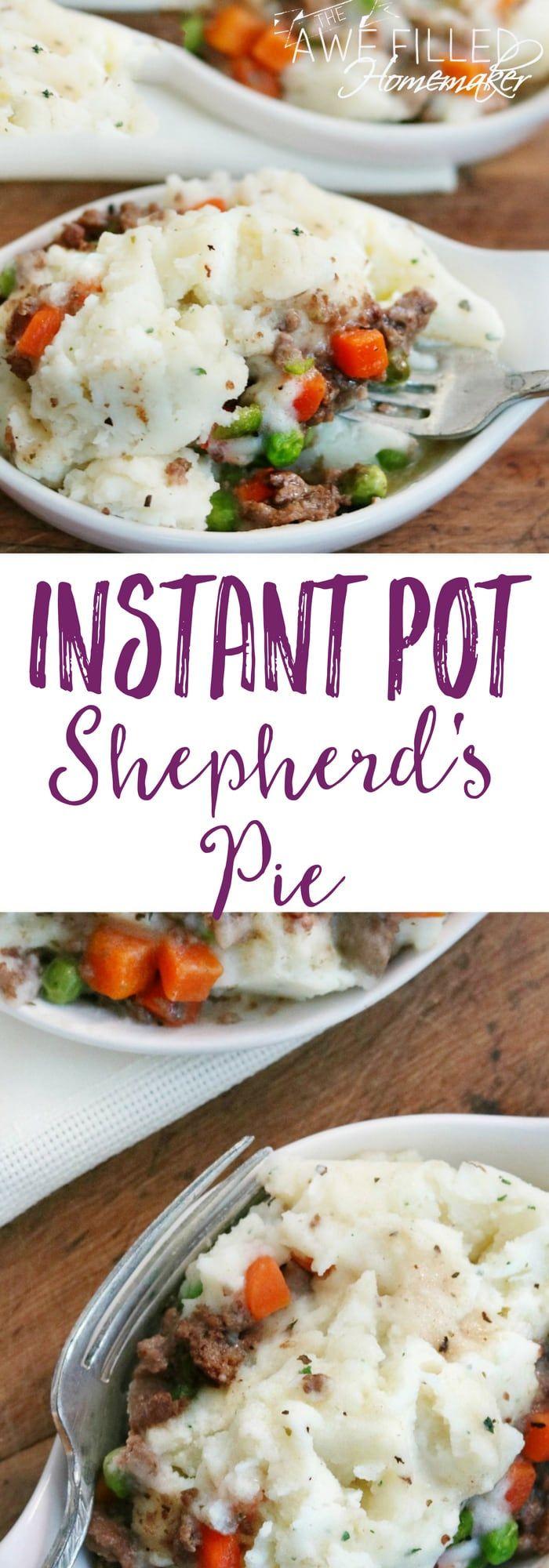 Instant Pot Shepherd's Pie #shepardspie