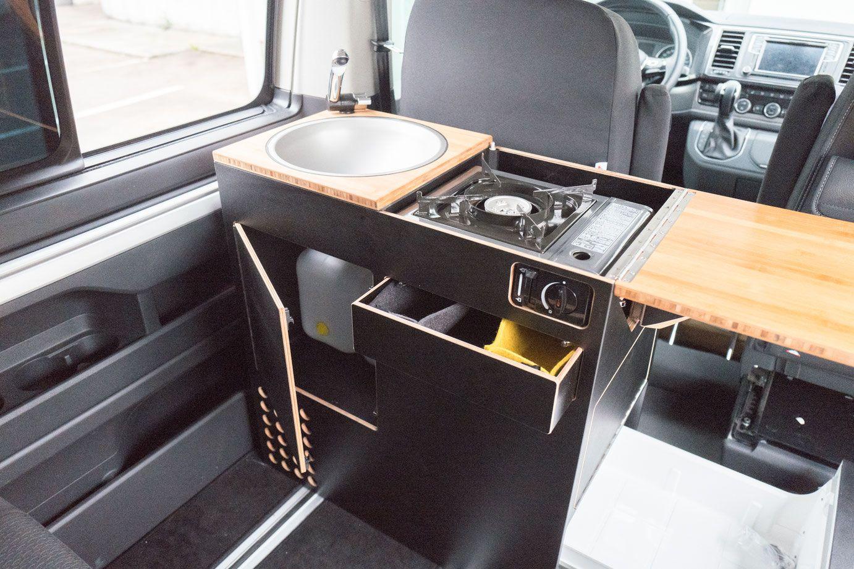 Kühlschrank Auto Camping : Tisch gaskocher stauraum schublade kühlschrank und becken mit