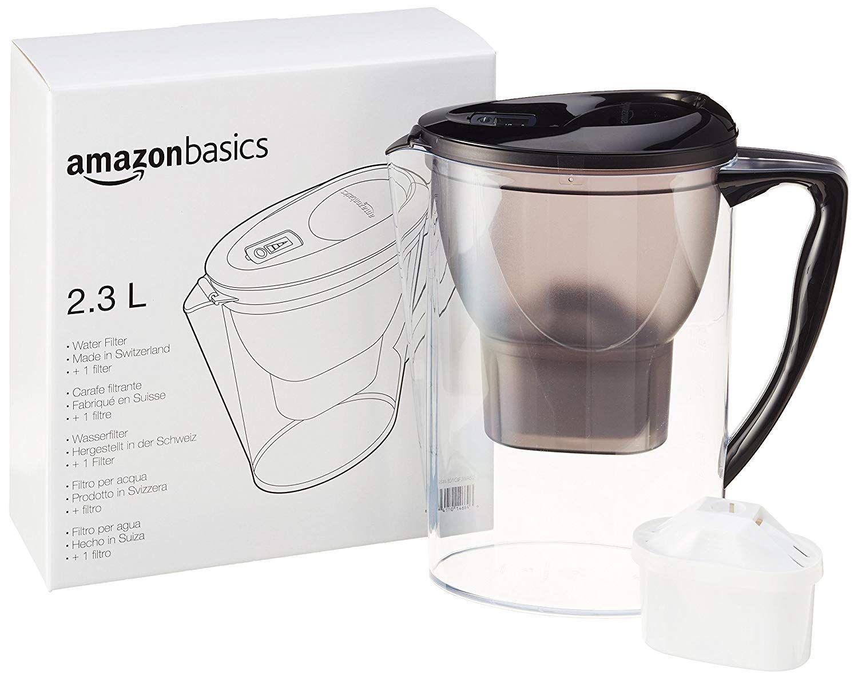 AmazonBasics Wasserfilter 2,3 Liter - Schwarz: Amazon.de: Küche ...