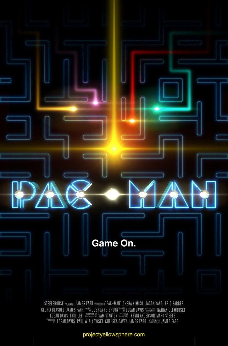 Pacman Movie Poster By Loganedavis Pacman Movie Gaming Imagenes De Videojuegos Arte De Videojuegos Anuncios Vintage