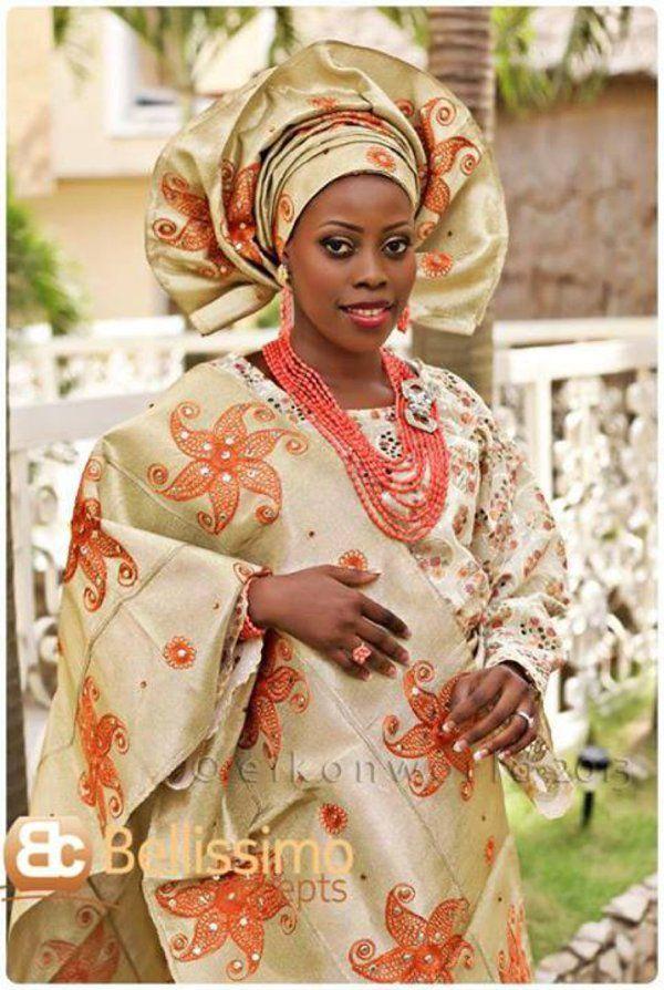 Beautiful Yoruba Wedding Attire For Bride African Wardrobe Pinterest Africans Traditional