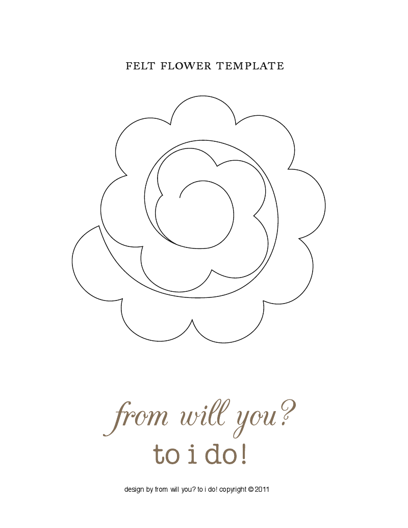 picture regarding Felt Flower Template Printable identify felt flower template templates, printables and so on. Felt