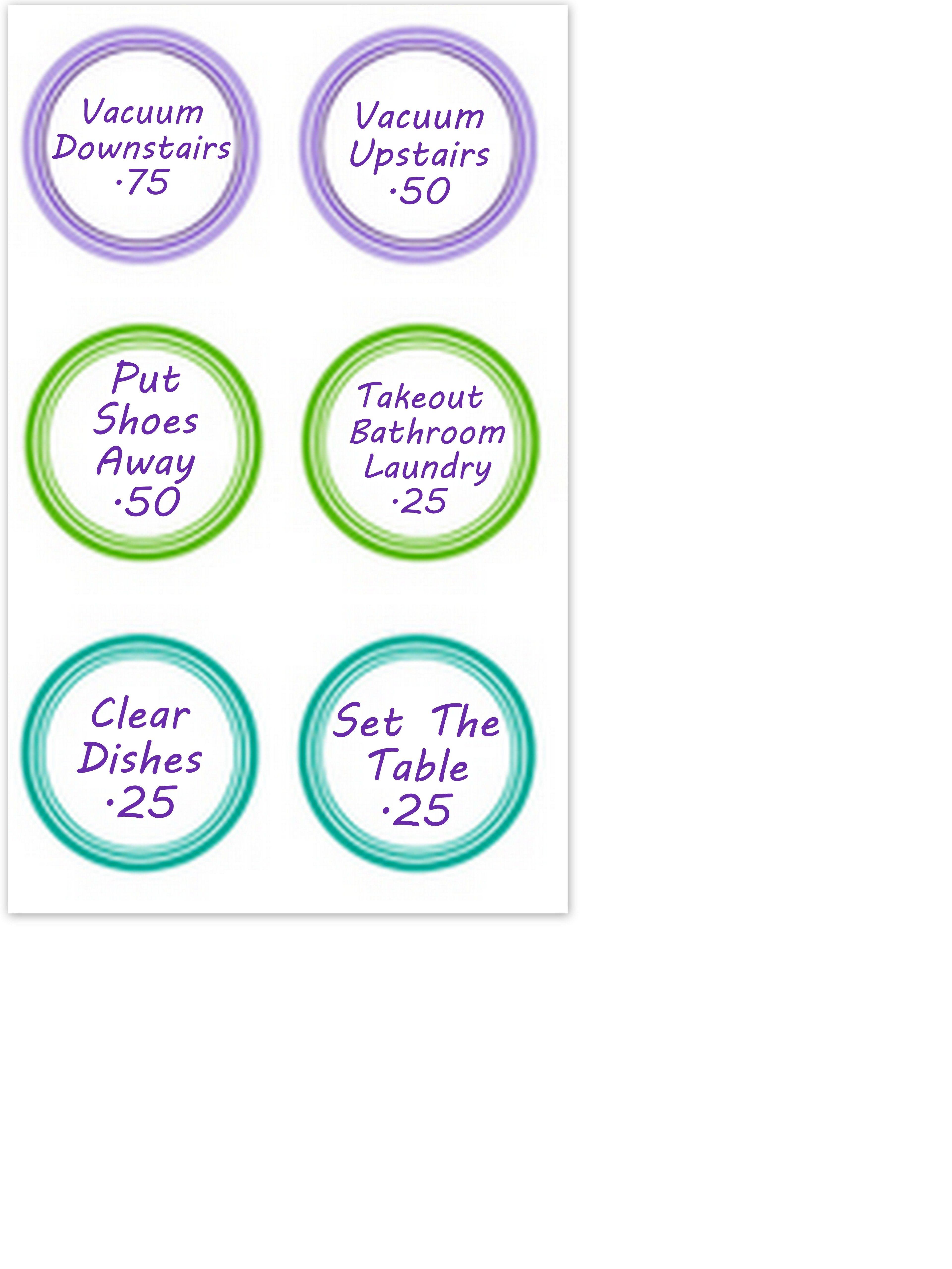 Kids Chore Chart   Chore Chart    Kid Kids Chore