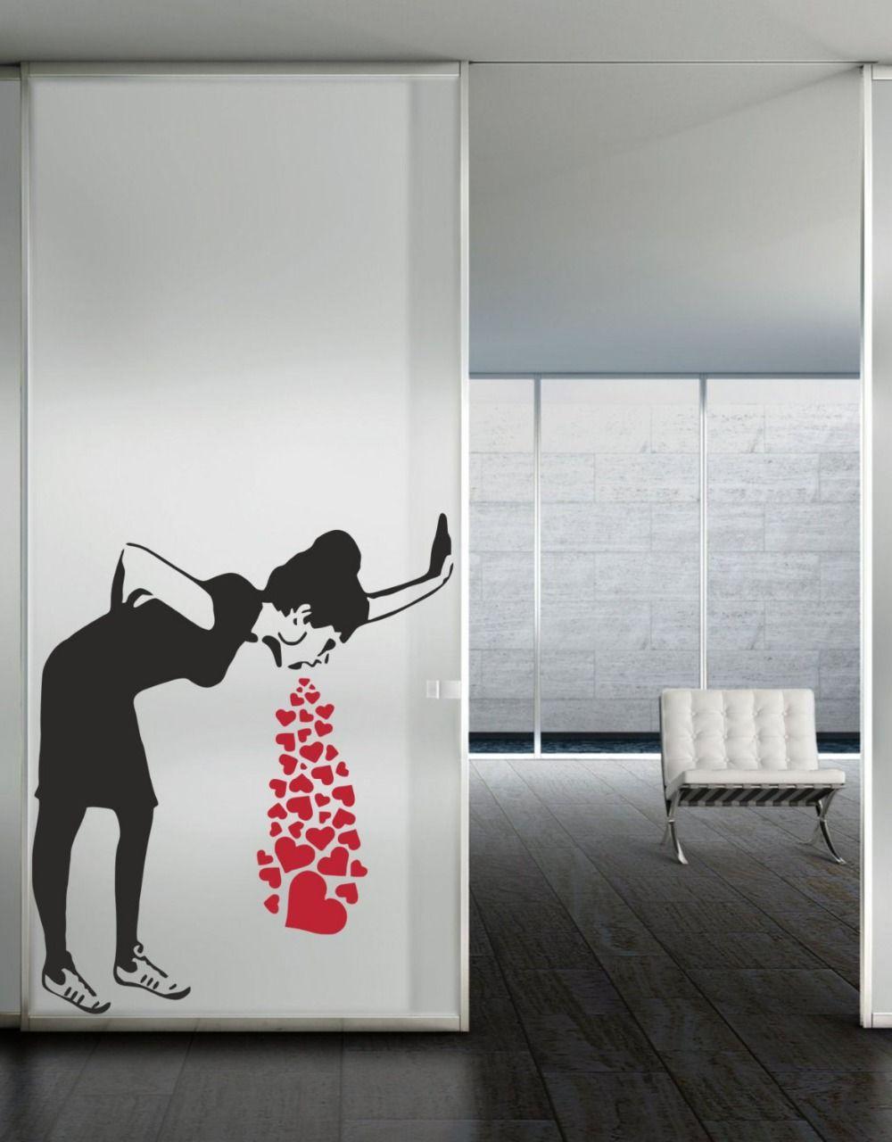 Wall art love sick by banksy vinyl wall decal alternative wall art