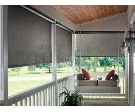 These Outdoor Shades Look Awesome I Have Heard Good Things About These My Husband And I Have A Porch Like This Porch Shades Patio Blinds Exterior Solar Shade