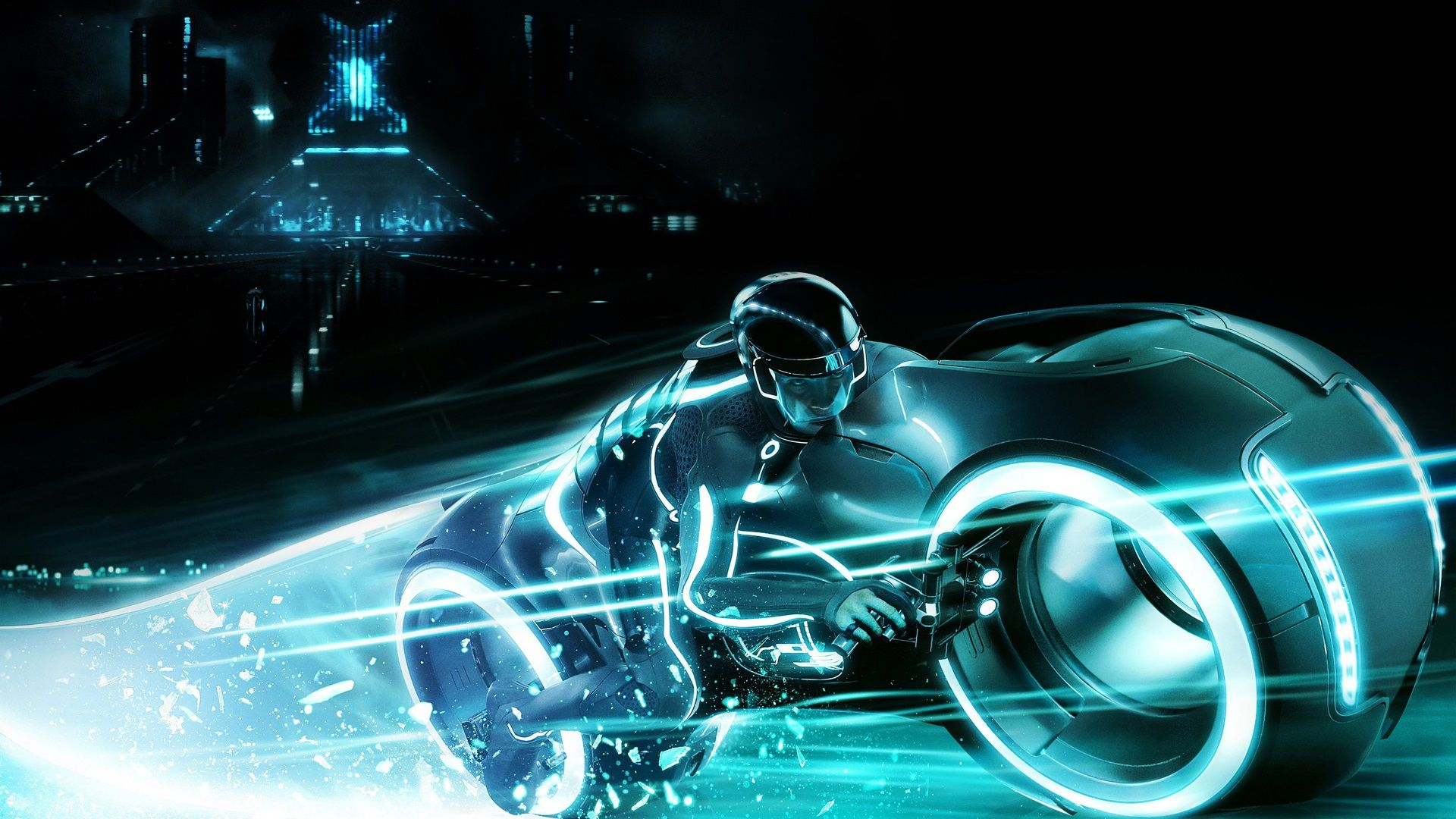 Download Wallpaper Dude Neon Tron 2 A Light Motorcycle Section Films In Resolution 1920x1080 Tron Legacy Action Wallpaper Tron