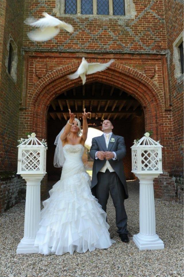Dove release at Leez Priory Wedding doves, Wedding