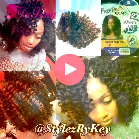 10 Inch Wand Curl Crochet Hair Extensions Ombre Jamaican bounce Crotchet Braids Syn Wholesale 10 Inch Wand Curl Crochet Hair Extensions Ombre Jamaican bounce Crotchet Bra...