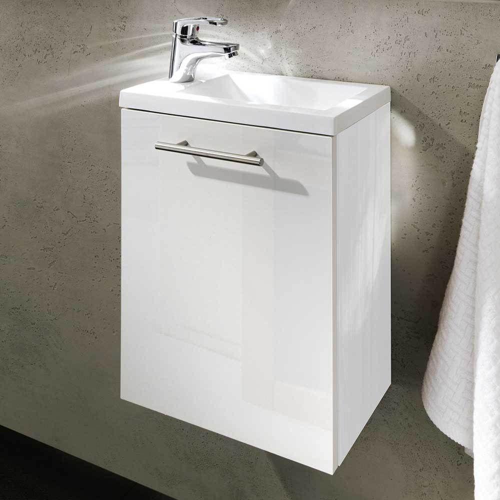 bad waschtisch in hochglanz wei gste wc jetzt bestellen unter https moebel - Gaste Wc Mobel