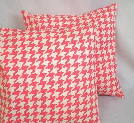 Honeysuckle Houndstooth Pillow Cover . 18 x 18 inch by CentralHome, $17.00