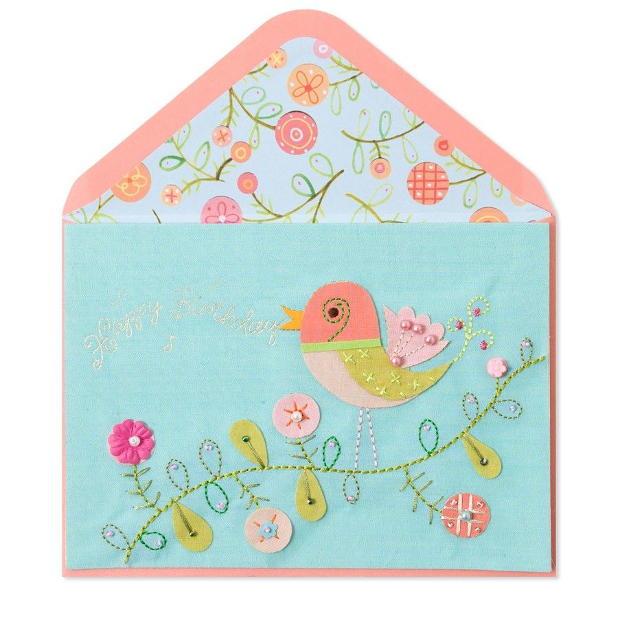 Handmade bird on vine designer linda solovic for papyrus greeting papyrus greeting cards are the gift m4hsunfo