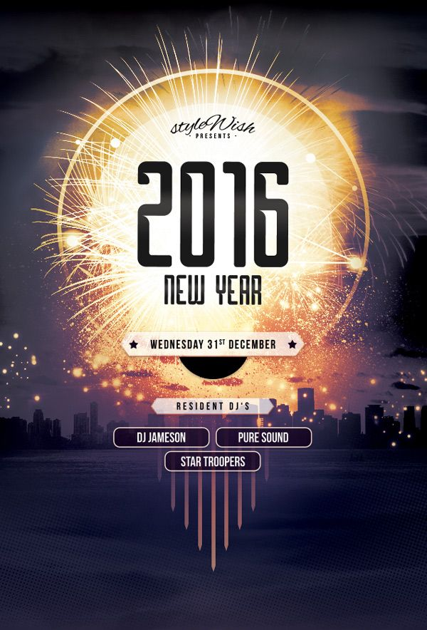 Itu0027s party season (hooray!), and thereu0027s no better way to - new year brochure template