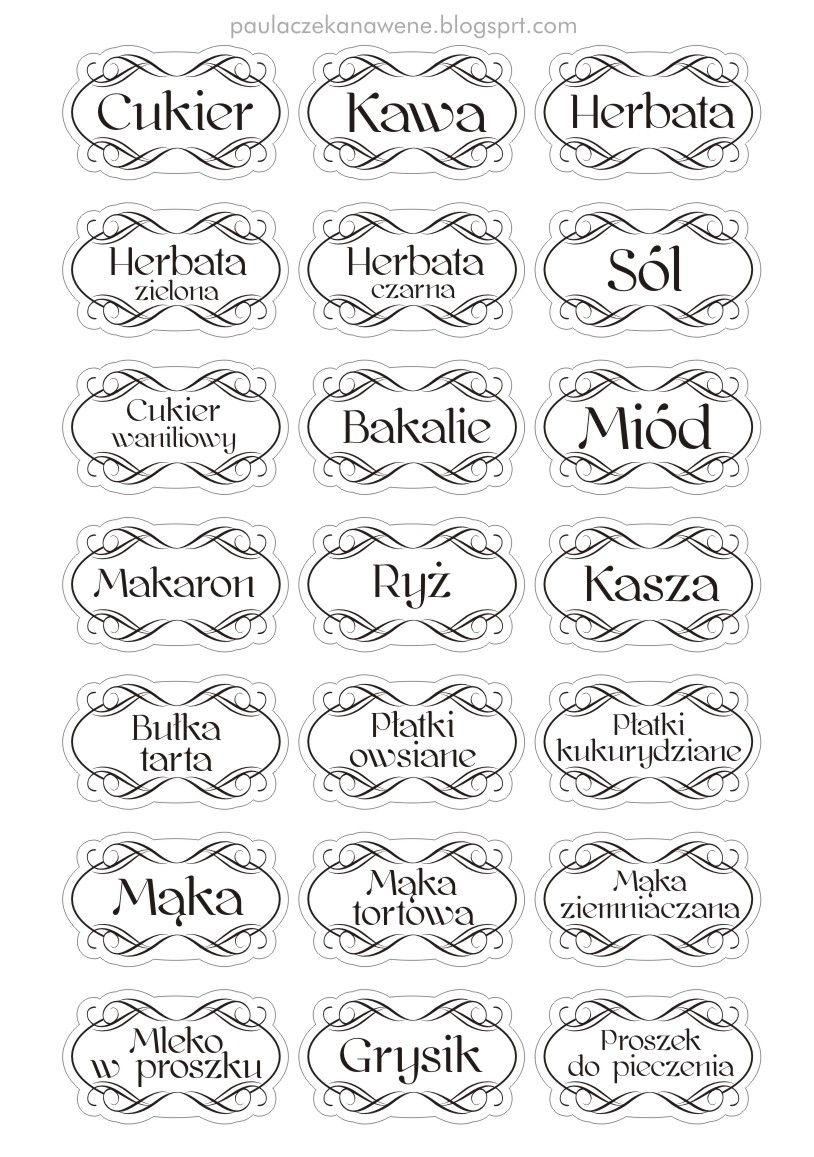 Kuchenne Etykiety 3 Jpg 814 1157 With Images Pomysly
