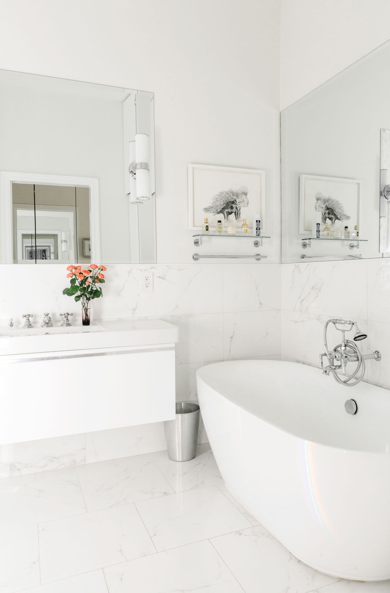 Tiny But Mighty Bathrooms  San Francisco Marble Tiles And Tile Magnificent San Francisco Bathroom Remodel 2018