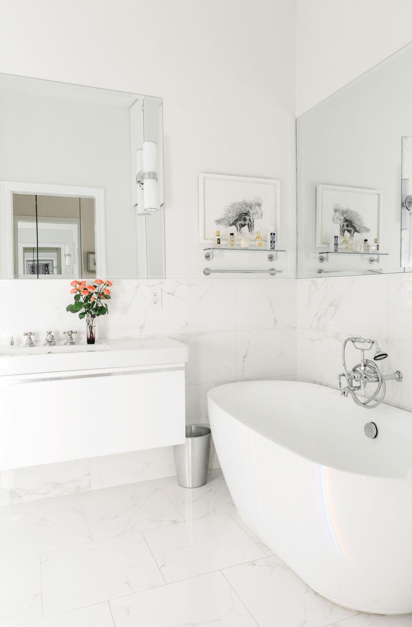 "12 x 12"" (?) marble tiled floor and walls homepolish-annouchka-020316-16"