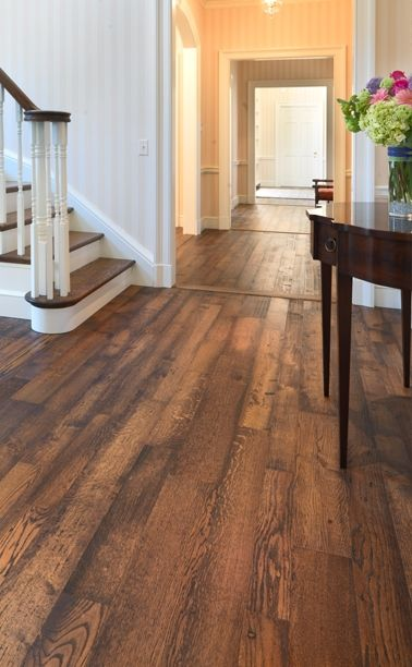 Prefinished hand distressed oak flooring from MOUNTAIN LUMBER CO
