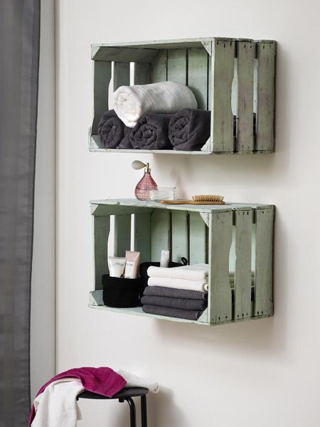 2 DIY-Ideen Upcycling mit Obstkisten Upcycling, Interiors and