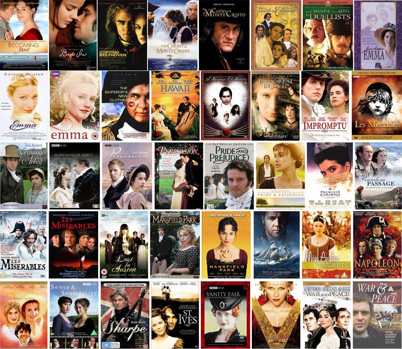 Filmes de época... Amo os que se passam no Egito Antigo, Grecia, Idade Media, Renascimento, Regência, Belle Epoque e anos 20 <3