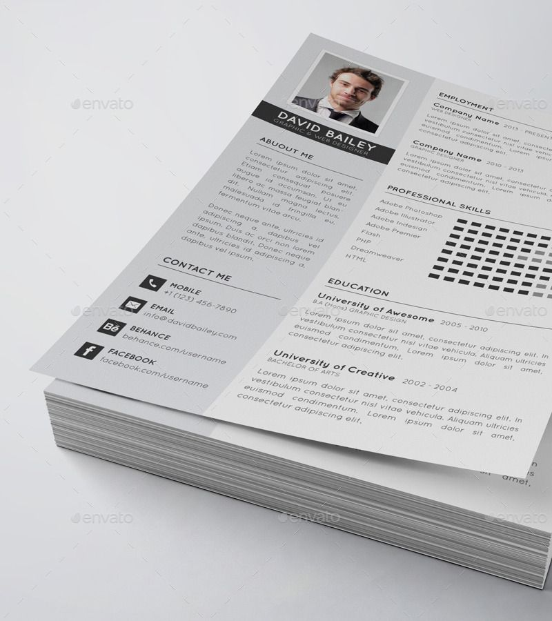 Clean Modern Resume Bundle 2 in 1 Modern resume, Clean
