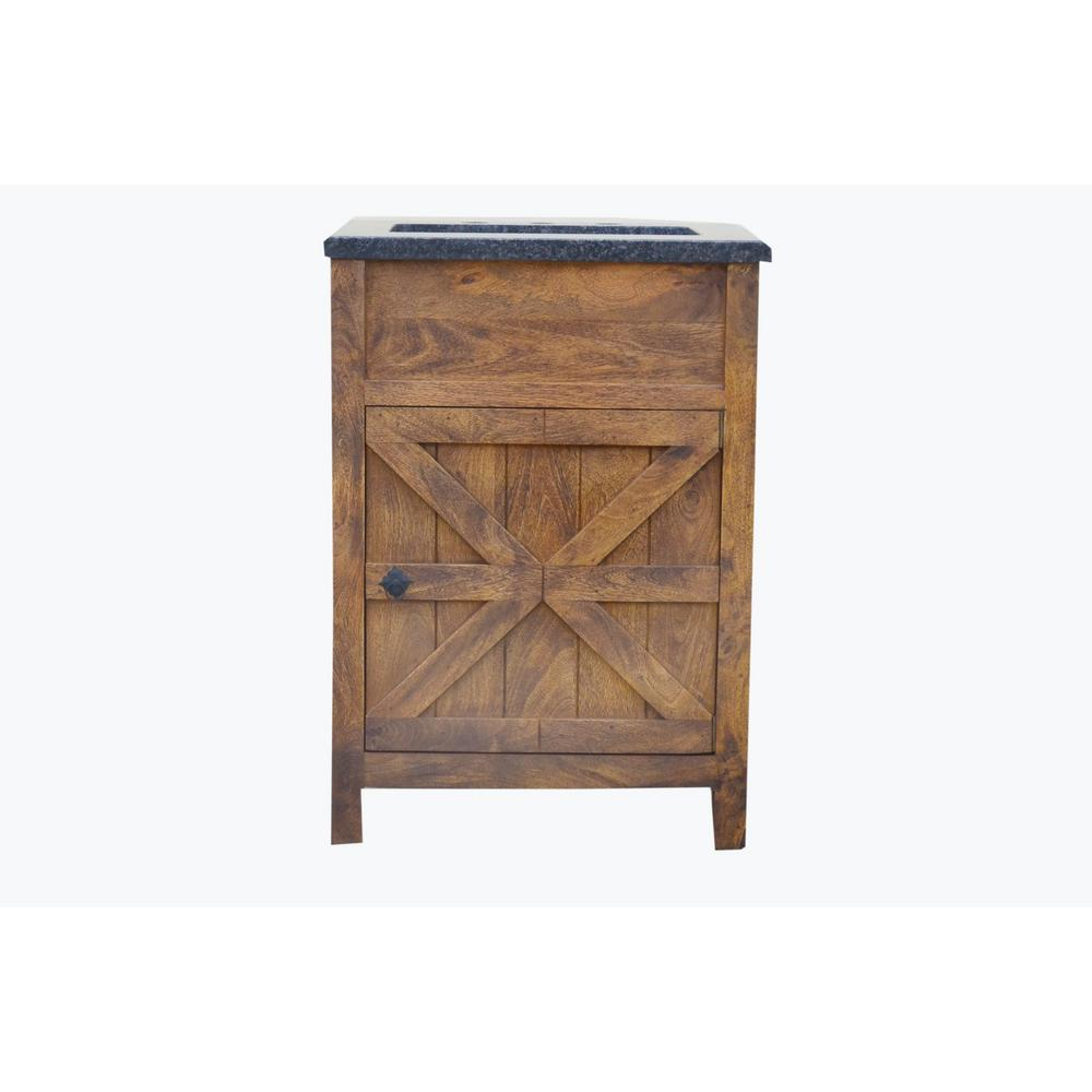 Traditional 24 In W Single Barn Door Vanity In Antique Finish Bv2124fs The Home Depot In 2020 Barn Door Antique Finish Black Granite Countertops