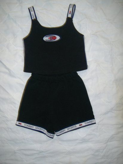 2 Pc Girls Tommy Sports Short Set Size 5 /6