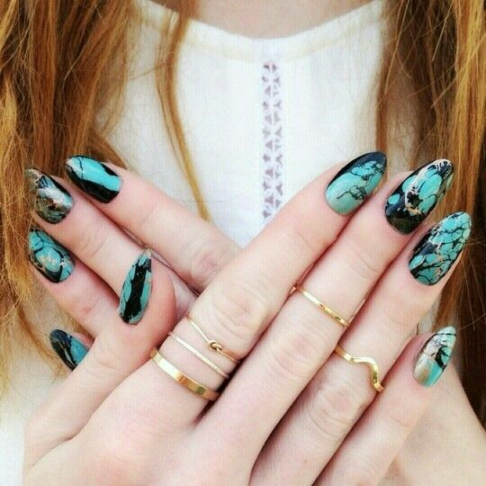 Green marble effect