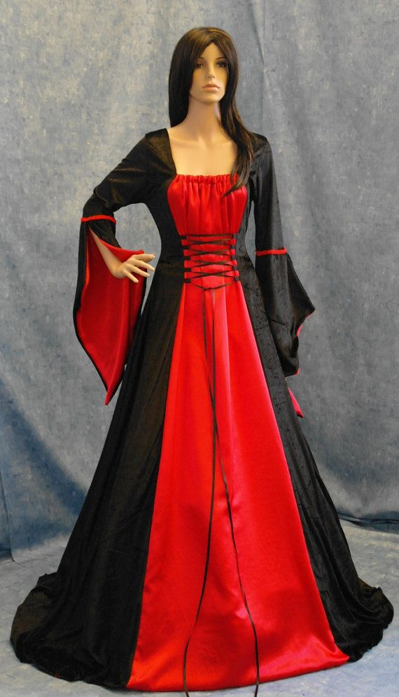 vestido medieval, vestido de halloween, handfasting vestido, vestido ...