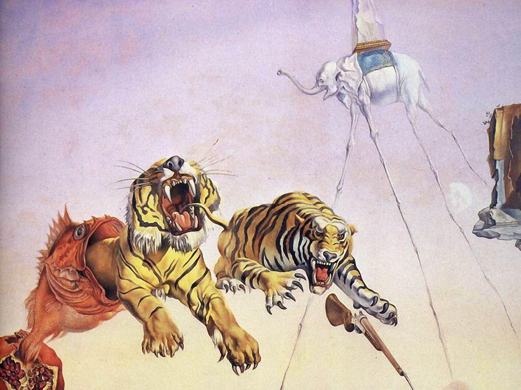 La tentación de san Antonio.  Salvador Dalí