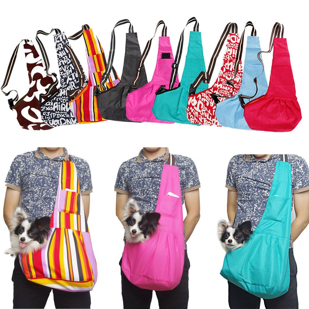 Oxford cloth sling pet dog carrier tote single shoulder bag any color all size jgg for my - Pattern for dog carrier sling ...