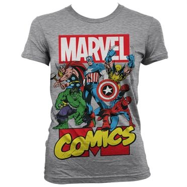 Marvel Comics Heroes Girly T Shirt i 2019 | Marvel comics og Tøj