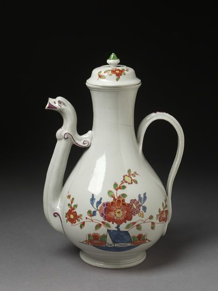 Coffee Pot And Cover Of Hard Paste Porcelain Doccia Porcelain