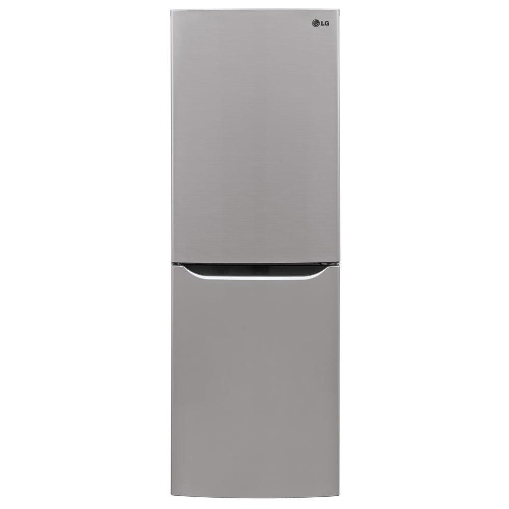 Lg Electronics 10 Cu Ft Bottom Freezer Refrigerator In Platinum Lbn10551ps The Home Depot Bottom Freezer Bottom Freezer Refrigerator Counter Depth Refrigerator