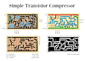 Perf and PCB Effects Layouts: Simple Transistor Compressor | Pedal