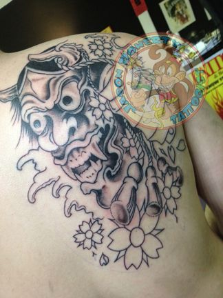 Tattoo Japanese In Progress First Session Jason Doherty Tattoo Tattoos Neotraditional Traditional Artist Tatto Tattoos Heart Tattoo Tattoo Artists