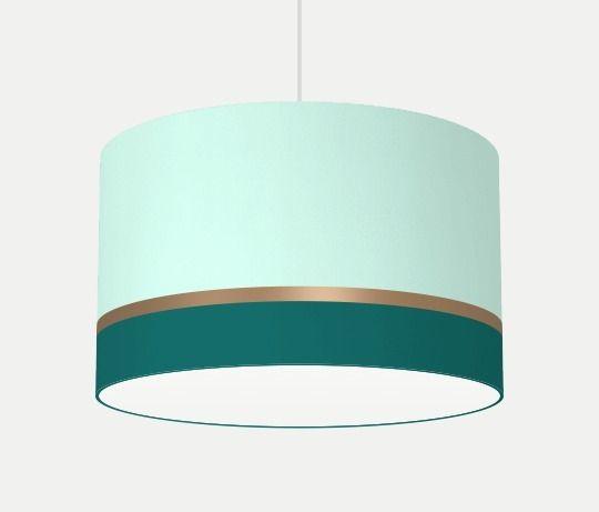 Stoff Lampenschirm mint und petrol  lampshade petrol mint by LUMINR leuchten via DaWanda
