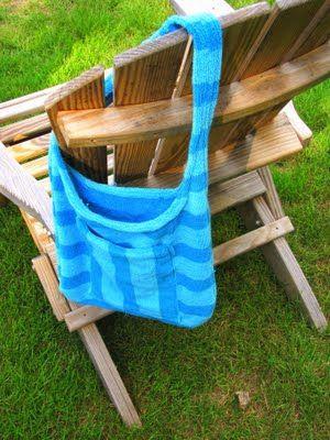 beach towel beach bag tutorial - great idea for the beach or pool