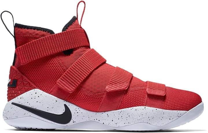 online store bc3d4 f088b Nike LeBron Zoom Soldier 11 University Red White in 2019 ...