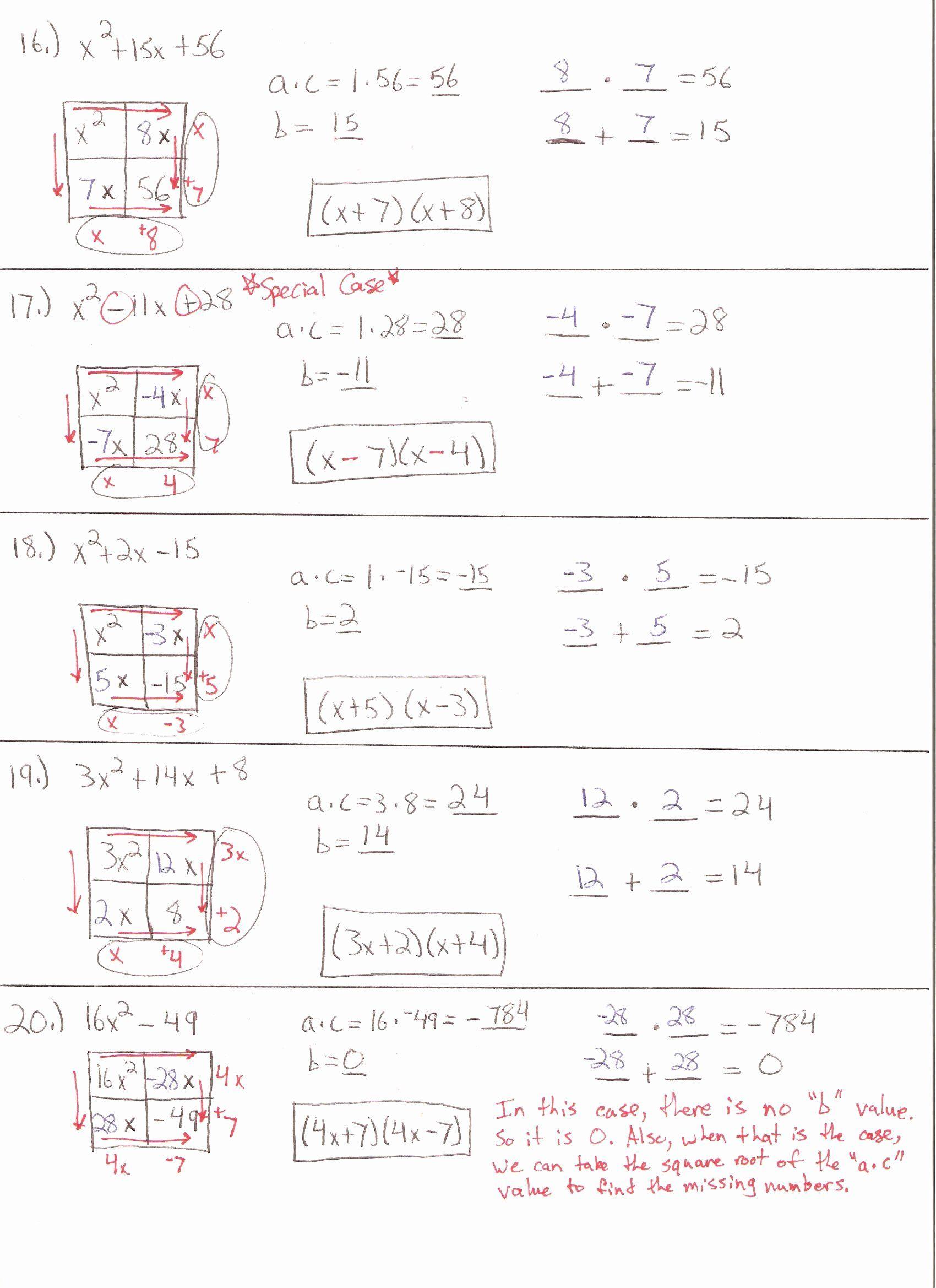 Factoring Quadratic Equations Worksheet Fresh Factoring Quadratic Trinomials Worksheet For 9th 10th In 2020 Quadratics Algebra Worksheets Solving Quadratic Equations
