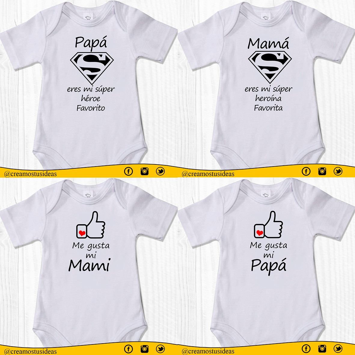 f7ec29e2e9e Bodys Personalizados Para Bebés De 0 A 24 Meses - Bs. 13.500